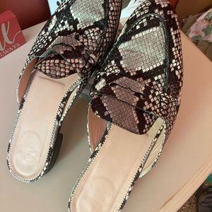J. Crew snakeskin loafers